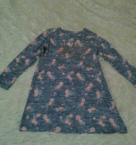 Туника - платье 134 см