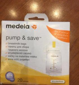 НОВЫЕ Medela пакеты для хранения грудного молока