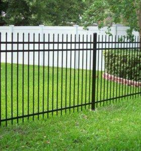 Забор, ворот, ковка.