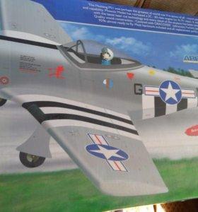 Радиоуправляемый самолетик mustang P51,