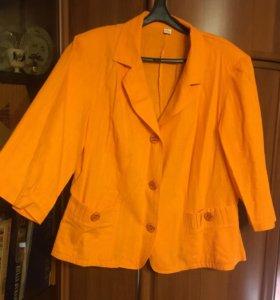 Новый Льняной пиджак. Размер 52-54