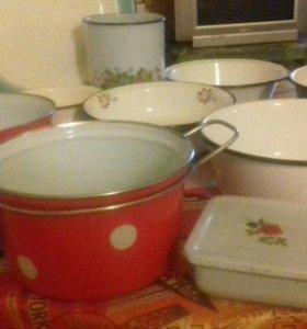 Эмалированная посуда новая и б/у