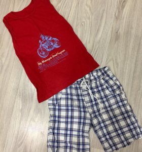 Костюм детский (шорты + майка)
