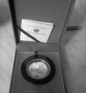 Коллекционерная серебрянная монета,с сертификатом