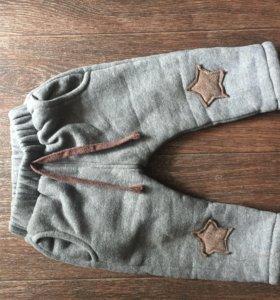 Зимние тёплые штаны 90см