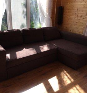 Тканевый угловой диван-кровать