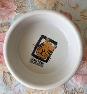 Миска для кошки керамическая