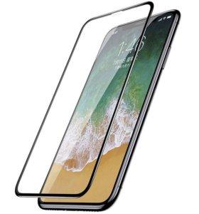 Защитное стекло на айфонX 3D (чёрное)