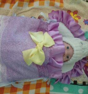 Новый Конверт babyborn,спальный мешок для куклы
