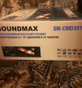 Soundmax-dvd,cd mp3 рессивер