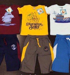 Комплект для мальчика ( шорты, футболка)5-8 лет