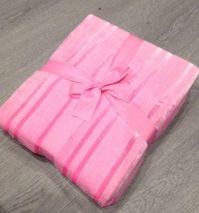 розовый новый плед