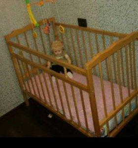 Детская кровать советская