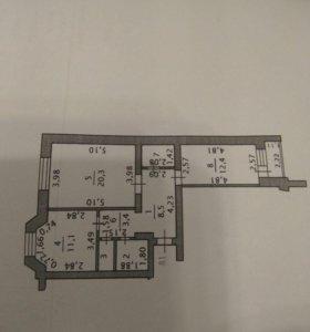 Квартира, 2 комнаты, 63.7 м²