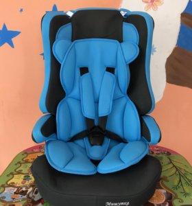Автокресло детское новое голубое