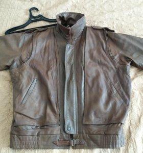 Куртка мужская. Кожа. 56-58 р-р