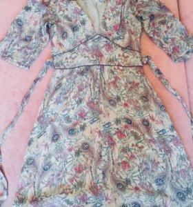 Фирменное шифоновое платье, новое!
