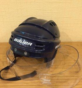 Хоккейный шлем + 2 визора