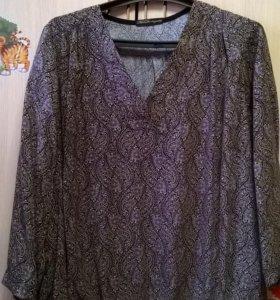 Блуза рубашка 52-54 ЛЕН