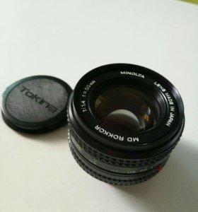 Объектив Minolta MD Rokkor 50 mm f/ 1.4