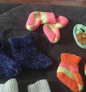Новые вязаные носочки