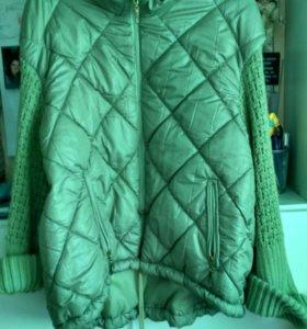 Стёганая куртка, свободный крой