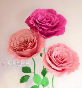 Ростовые бумажные цветы