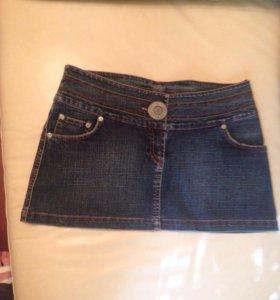 Джинсовая Мини юбка 44 размер