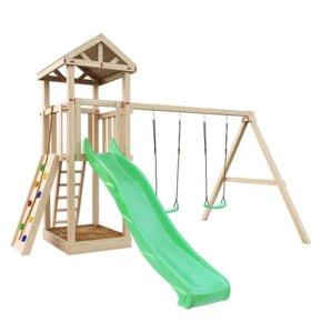 """Детская площадка для дачи """"Башня Фани + скалодром"""""""