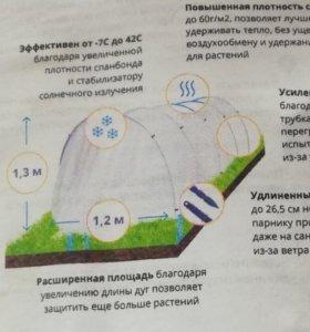 Парник длина 4м, выс 1,3м, ширина 1,2метра