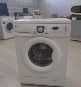 Узкая стиральная машина LG 3,5 кг Гарант, Дост