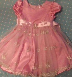 Нарядное платье 86- 98см