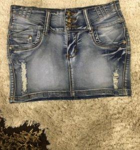 Юбка джинсовая,мини