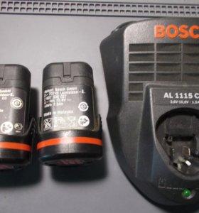 Аккумуляторы Bosch 10,8 + 2 акк. и зу