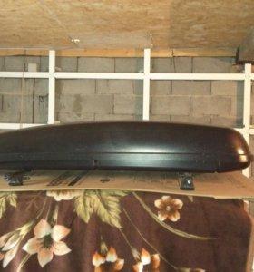 АВТОБОКС ПЕЖО на крышу с креплением в сборе
