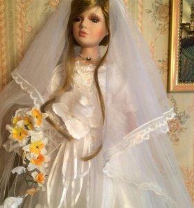 Кукла фарфор.невеста