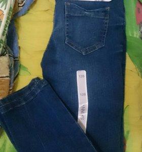 Новые джинсы для девочки 128 размер