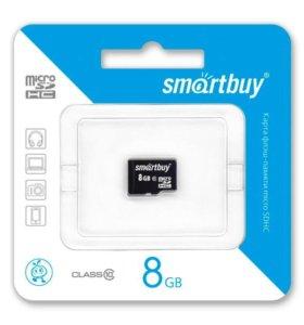 Карта памяти microSDHC SmartBuy 8Gb