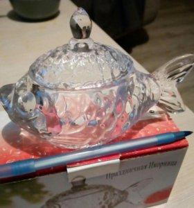Икорница рыбка (стекло)