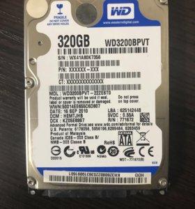Жёсткий диск для ноутбука WD-320 Gb