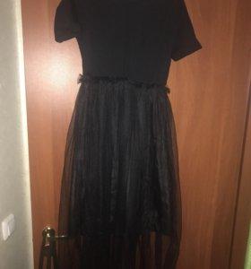 Комплект:платье и жилетка
