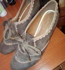 Классные туфли. Натуральный замш