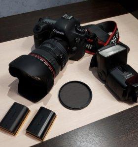 Canon 6D Kit 24-105 f/4 L + вспышка + кофры