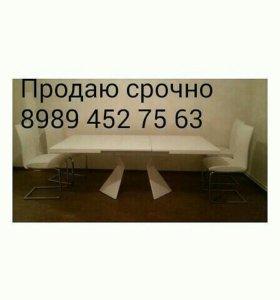 Стол,4стула, 4 накидки, или обмен на угловой диван