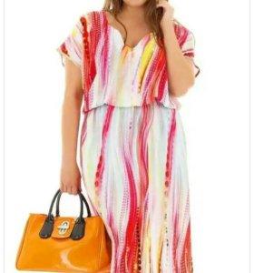 Платье штапель xl+ новое