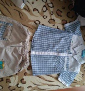 Комплект рубашка +шорты на мальчика 5 лет