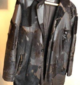 Куртка с телячьей кожи осенне-весенняя, размер 50