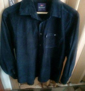 Микро вельветовая рубашка мужская