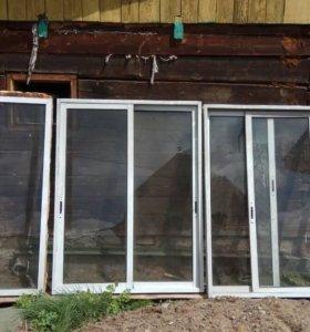 Ветрозащитное пластиковое окно