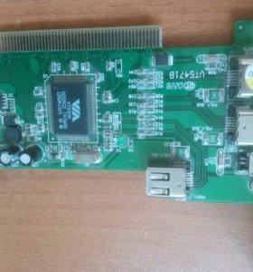 Плата VT6306 (IEEE1394 Fire Wire).